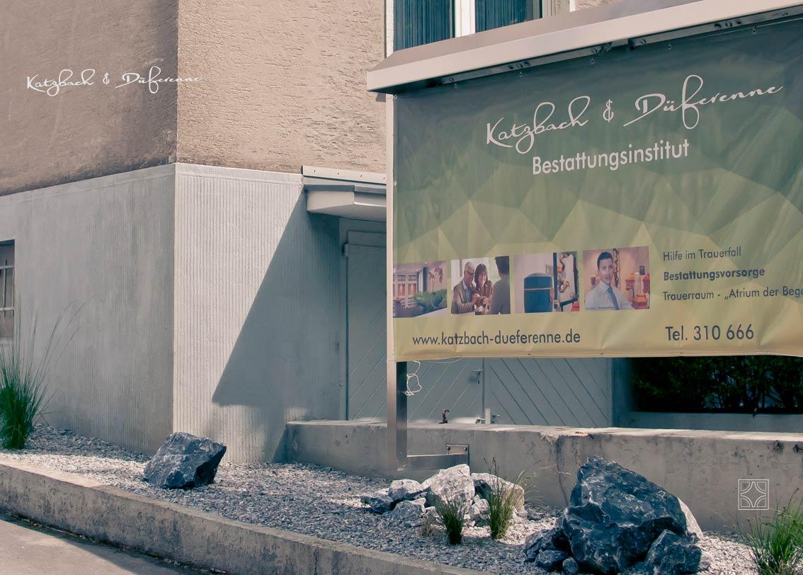 Aussenwerbung Bestattungen Katzbach & Düferenne Solingen