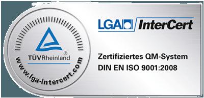 Logo Zertifiziertes QM-System TÜV Rheinland Bestatterverband